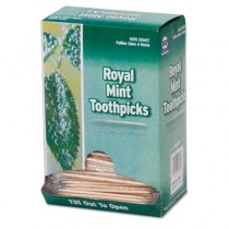 """Mint Cello-Wrapped Wood Toothpicks, 2 3/4"""", Natural"""