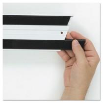 Hook & Loop Replacement Strips, 1 1/10w x 18l, Black