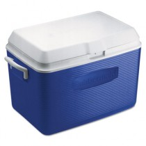 Deluxe 48-Quart Hinged-Lid Ice Chest, Blue