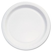 """Bare Eco-Forward Clay-Coated Paper Plate, 6"""" Diameter, White/Brown/Green"""