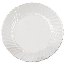 Classicware Plates, Plastic, 6 in, Clear