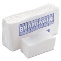 Paper Napkins, 1-Ply, 6 x 13, White