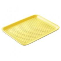 Supermarket Trays, Foam, Yellow, 10.38 x 8 1/4 x 0.63