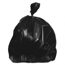 Repro Low-Density Can Liners, 33w x 39h, Black