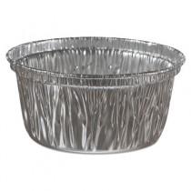 Aluminum Baking Cups, 4 oz, 3 3/8 dia x 1 9/16h
