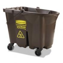 WaveBrake Bucket, 35 qt, Brown, Plastic, 20.1 x 16 x 17.4
