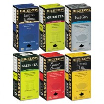 Assorted Tea Packs, Six Flavors, 28 Bags Of Each Flavor