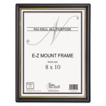 EZ Mount Document Frame w/Accent, Plastic, 8 x 10, Black/Gold