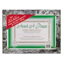 Award-A-Plaque Document Holder, Acrylic/Plastic, 10-1/2 x 13, Black