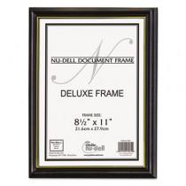 Deluxe Wood Document Frame, Plastic Face, 8-1/2 x 11, Black
