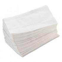Tall-Fold Napkins, 1-Ply, 7 x 13 1/2, White