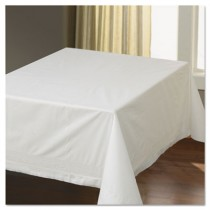 "Tissue/Poly Tablecovers, 54"" x 54"", White"
