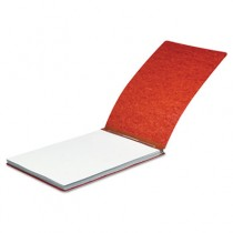 """Pressboard Report Cover, Spring Clip, Letter, 2"""" Capacity, Earth Red"""