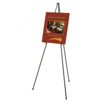 "Heavy-Duty Adjustable Instant Easel Stand, 15"" to 63"" High, Steel, Black"