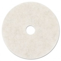 Ultra High-Speed Natural Blend Floor Burnishing Pads 3300, 27-in, Natural White
