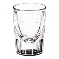 Whiskey Service Drinking Glasses, Fluted Lined Shot Glass, 1 oz., 3 Inch Height