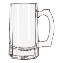"Glass Mugs and Tankards, Stein, 12oz, 5 7/8"" Tall"