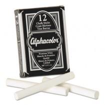 Alpha Nontoxic Low Dust Chalk, White, 12 Sticks/Pack