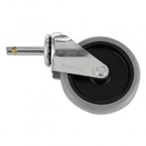 Replacement Swivel Casters, Bayonet, 4in Wheel, Black
