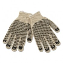 PVC-Dotted String Knit Gloves, Large