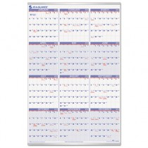 "Recycled Yearly Wall Calendar, 24"" x 36"", 2013"
