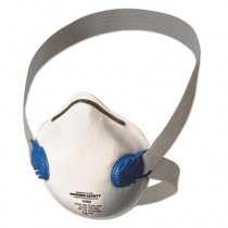 Jackson Safety R10 Particulate Respirator, N95, White w/Gray Straps
