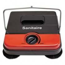 Sanitaire SC430 At Hand Manual Carpet Sweeper, Red/Gray/Black