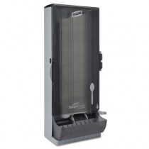 "SmartStock Utensil Dispenser, Spoon, 10"" x 8.78"" x 24.75"", Smoke"