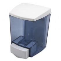 ClearVu Liquid Soap Dispenser, 30 oz, 4-1/2w x 4d x 6-1/4h, Black/White