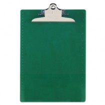 "Recycled Plastic Clipboards, 1"" Capacity, Holds 8-1/2w x 12h, Green"