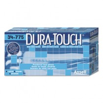 Dura-Touch PVC Gloves, Lightly Powdered, Large, Blue