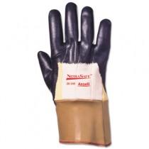Nitrasafe Kevlar Work Gloves, Size 10, Kevlar/Nitrile/Jersey, Black/Brown