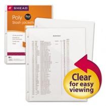 Slash Pocket Jackets, Letter, Polypropylene, Clear, 5/Pack