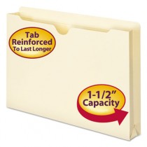 "File Jackets, 2-Ply Top, 1 1/2"" Accordion Expansion, Lgl, 11 Pt. Manila"