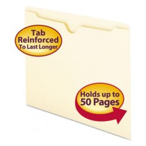 File Jackets with Double-Ply Tab, Letter, 11 Point Manila, 100/Box