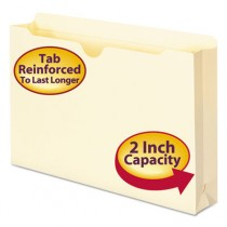 File Jackets, Double-Ply Top, Two Inch Expansion, Legal, 11 Point Manila, 50/Box
