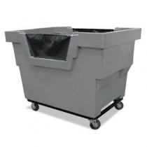 Mail Truck, 1000-lb Capacity, Gray, 31 3/4 x 48 x 37