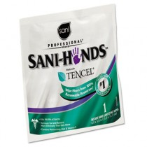 Sani-Hands Sanitizing Wipes with Tencel, White, 5 x 7 3/4