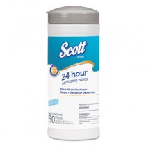 SCOTT Disinfectant Wipes, White, Unscented, 50/Canister