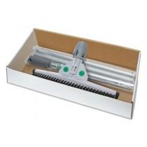 "SmartFit Sanitary Brush Kit with Handle, 22"", Rubber/Aluminum, Black/White"