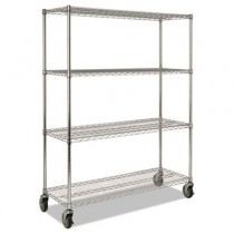 Mobile Rack for Prosave Shelf Ingredient Bins, 50w x 18d x 67-1/5h, Chrome