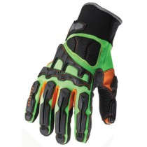 ProFlex? 925F(x) Dorsal Impact-Reducing Gloves,Black-Green-Orange, X-Large