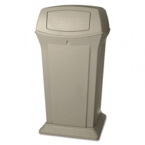 Ranger Fire-Safe Container, Square W/2 Doors, Structural Foam, 65 gal, Beige