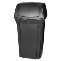 Ranger Fire-Safe Container, Square, Structural Foam, 35 gal, Black
