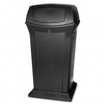 Ranger Fire-Safe Container, Square W/2 Doors, Structural Foam, 65 gal, Black
