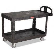 Heavy-Duty Utility Cart, 500-lb Cap., 2 Shelves, 25 1/4 x 54 x 36, Black
