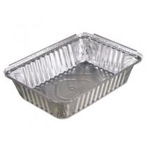 Oblong Aluminum Food Pans, 36oz, 8 7/16w x 5 15/16d x 1 13/16h