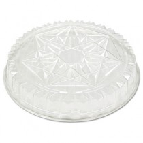 Round CaterWare Dome-Style Food Container Lids, 1-Comp, Clear, 12dia