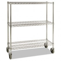 Mobile Rack for Prosave Shelf Ingredient Bins, 38w x 14d x 48 3/10h, Chrome