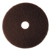 Low-Speed High Productivity Floor Pads 7100, 12-Inch, Brown